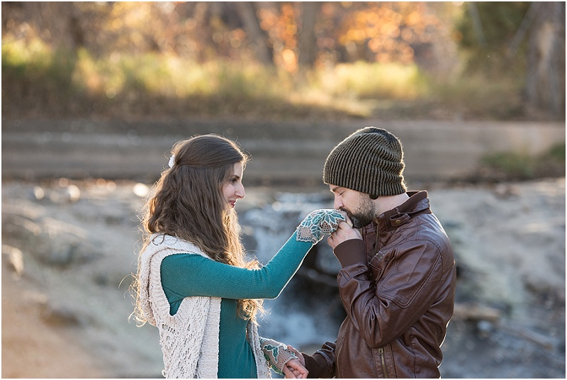 Sunset Fall Engagement Session in Colorado