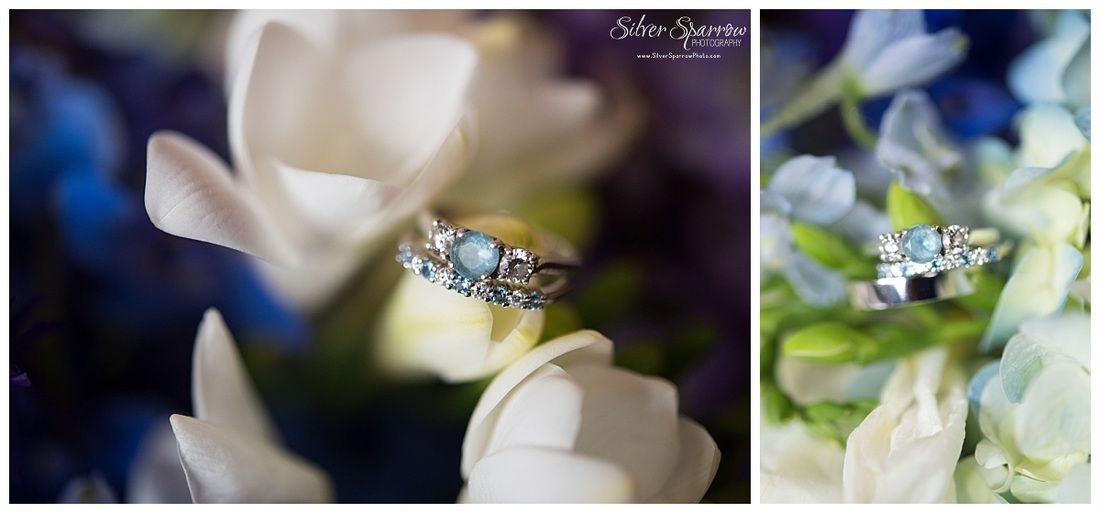 Blue Wedding Ring - Silver Sparrow Photography