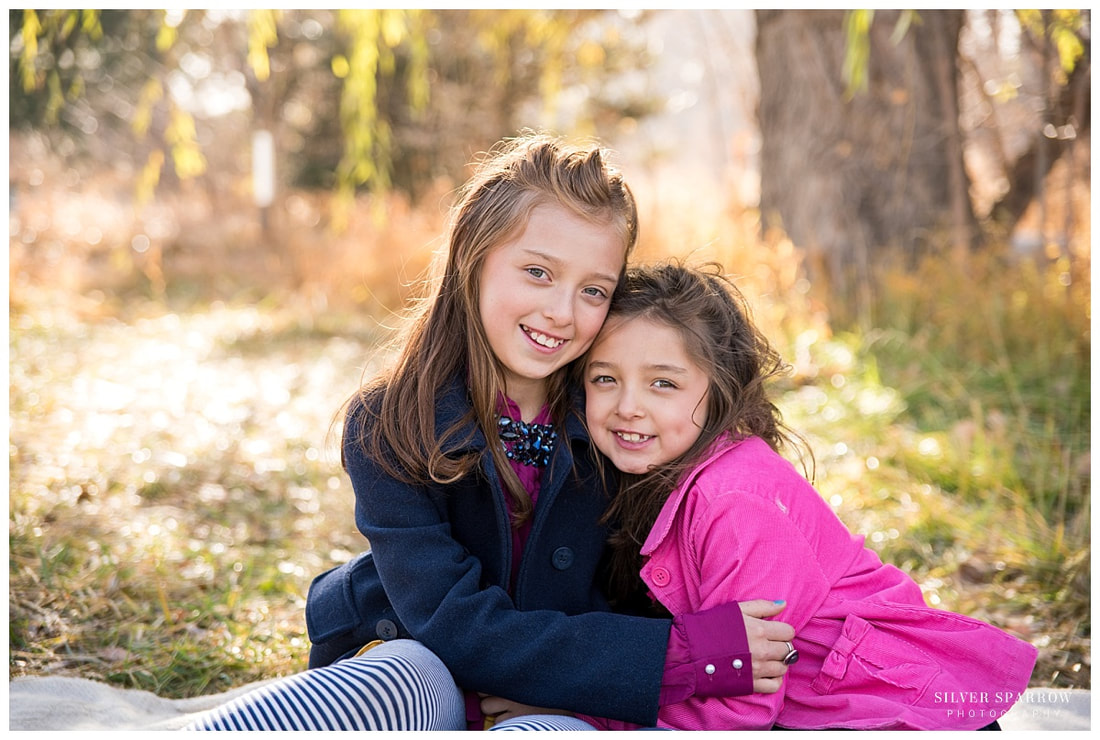 Fall Family Photo - Sisters - Silver Sparrow Photography
