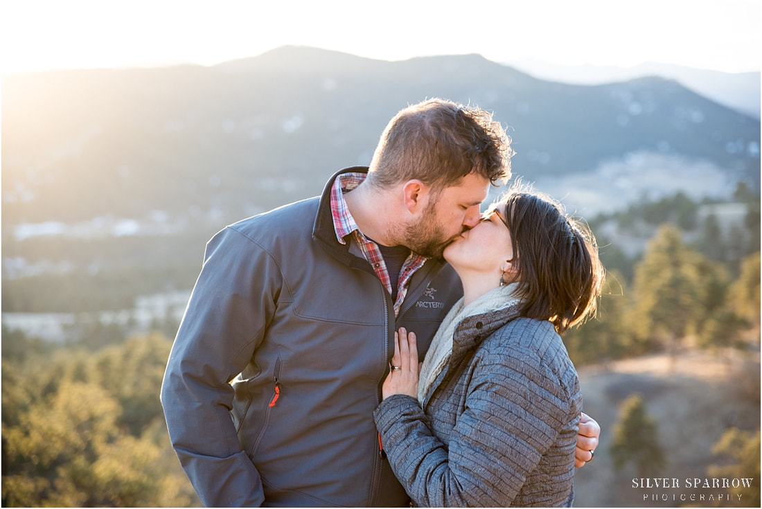 mountain engagement pictures - Colorado photographers