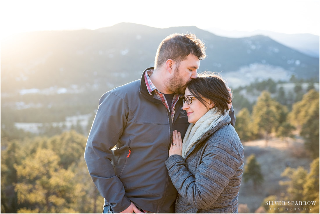 mountain engagement pictures - denver Colorado photographers