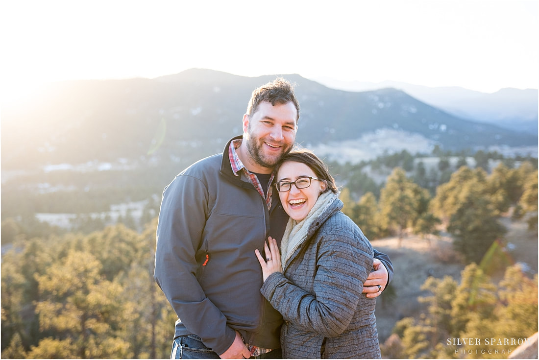 mountain engagement pictures - Littleton Colorado photographers