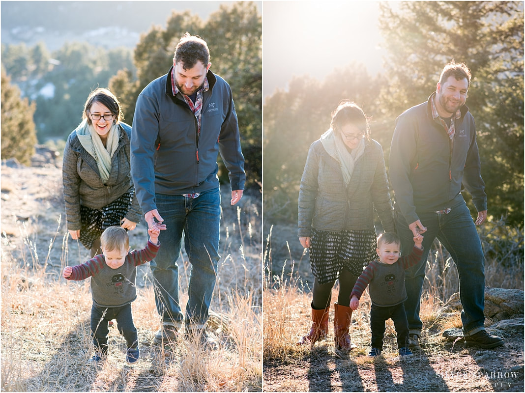 mountain family photos at sunset - colorado photographers